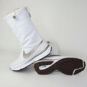 Nike Air Wafflo Womens Boots Leather White Snow